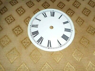 """Round Paper (Card) Clock Dial - 2 3/4"""" M/T - Roman-GLOSS WHITE -  Parts/Spares"""