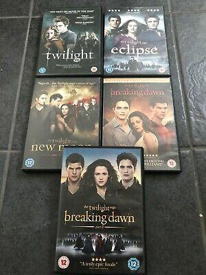 The Twilight Saga Complete DVD Collection Full Set OF All 5 DVDs Bundle Job Lot
