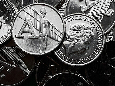 2018. ANGEL OF THE NORTH. LETTER A. Alphabet Ten Pence. 10p. A-Z