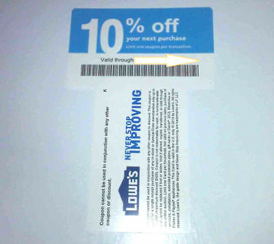 20x Not Lowes 10% Blue Cards for Home Depot only Expires 10/15/2020 OCTOBER