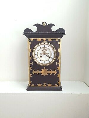 Gothic/Arts & Crafts Mantle Clock Open Escapement Movement