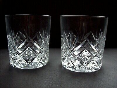 2 X Royal Doulton Crystal Juliette Double Old Fashioned Whisky Glasses #2