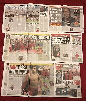 Liverpool FC World Club Cup Champions UK Newspaper Pages Clippings Cuttings
