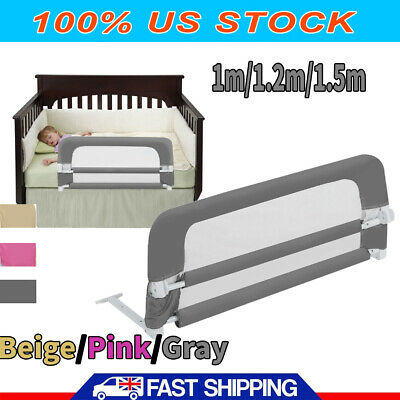 Swing Down Bed Rail Bedrail Crib Kid Toddler Elderly Safety Guard Bunk multiSize