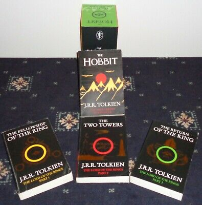 Collectors  J.R.R Tolkien Box Set Of Lord Of The Rings And Hobbit Books