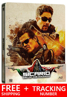 Sicario : Day of the soldado ( Blu-ray ) STEELBOOK / Quarter Slip / Region FREE