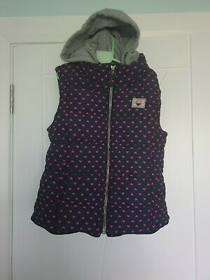 Girls NEXT Gilet / body warmer detachable hood age 9-10 years