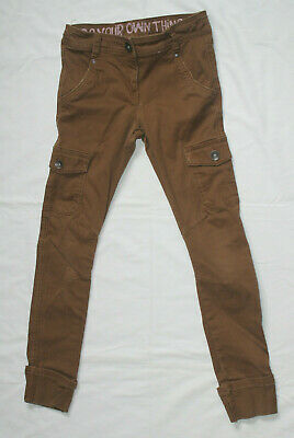 Boy's cargo trousers in brown by Next. Size 10 years, 140cm. Pre-loved