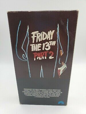 Friday The 13th Part 2 Paramount Video VHS Horror Slasher First Release Slipcase