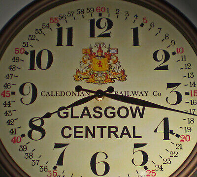 Caledonian Railway, Victorian Station Clock, Glasgow Central Station Replica.