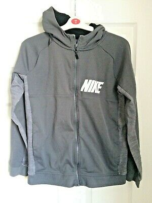 Nike Grey Zip Fastening Hooded Track Suit Top 13-15 Years