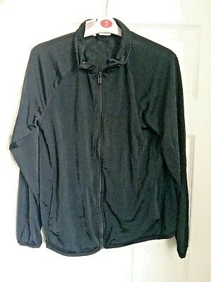 Adidas Black Zip Fastening Track Suit Top Size 12-14 Years