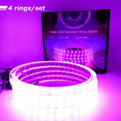 """RGB LED SPEAKER RINGS WATERPROOF 6.5/"""" 8/"""" 6X9/"""" 10/"""" 12/"""" 15/"""" FIT WETSOUNDS EXILE"""