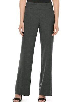 Nwt Womens Dana Buchman Midrise Pull-On Wide Leg Pants Size 6