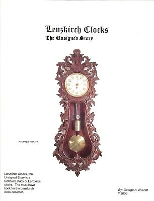Clock Book, Lenzkirch Clocks, The Unsigned Story