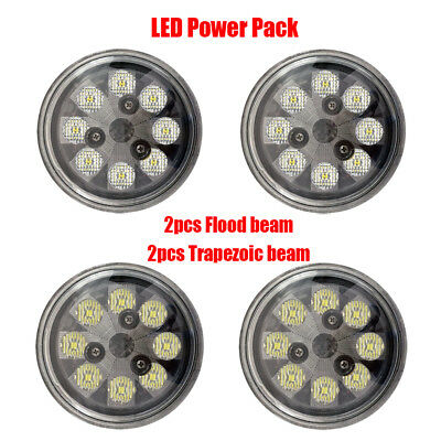 LED PAR36 GE 4509 Landing Light Pack 2pc Flood beam + 2pc Trapezoid beam lights