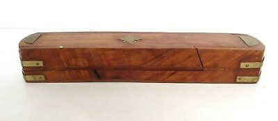 Vintage old Antique Wooden Hand Carved Decorative pen Box