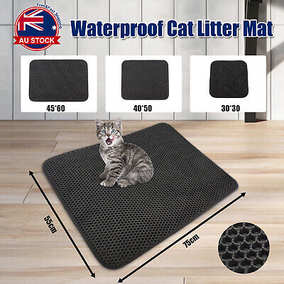 Double Layer Cat Litter Tray Trap Mat Catch Cat Litter House Box Pad Toilet C