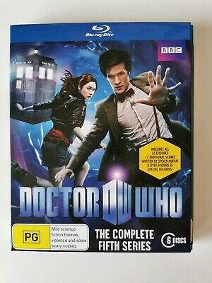 Doctor Who The Complete Fifth 5 Series blu ray 6 discs Matt Smith