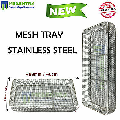 Medical Grade Stainless Steel Mesh Tray Dental Surgical Instruments MEDENTRA® CE