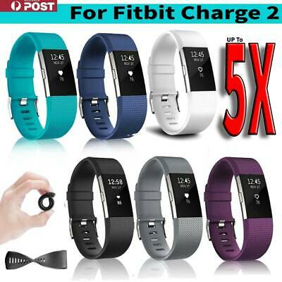 5xFor Fitbit Charge 2 Bands Replacement Gel Wristband Bracelet Watch Strap Silic