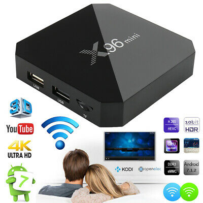 X96 Mini TV Boîte Box Smart Android 7.1 WiFi S905W Quad Core H265 2GB/16GB Media