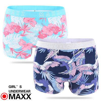 MAXX 5/8 pack Girls Cotton Shorties Boyleg Underwear size 6-16