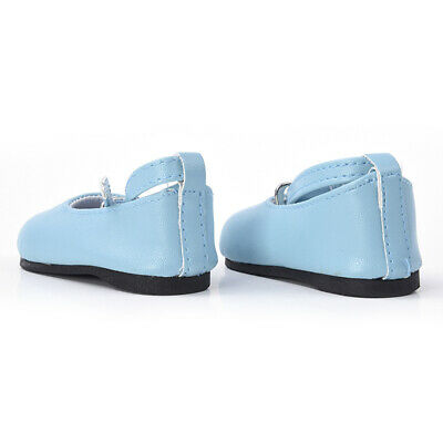 Handmade Fashion Blue Shoes For 18 inch Girl Doll Hot Party Nice Gift Baby R9B0