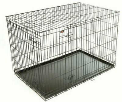 Hound Copper Dog/Puppy Folding Crate with Metal Copper Tray Small Medium Large