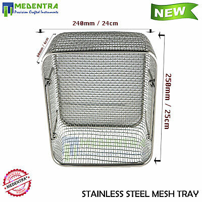New Sterilization Cassette Wire Mesh Holding Medical Instruments Tray Medentra®