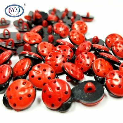 HL 15x12MM Red Beatles Plastic Buttons DIY Garment Clothing Sewing Accessorie…