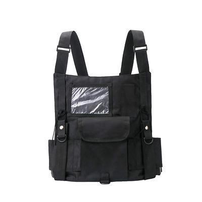 Universal Radio Harness Chest Rig Vest Hands Free Pocket Tractical Bag Outdoors