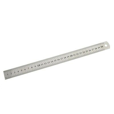 1 PC 30cm Stainless Steel Metal Ruler Metric Rules Precision Double-sided Mea…