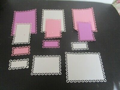 Die Cut  Card  Toppers 12 Pieces  Cardstock