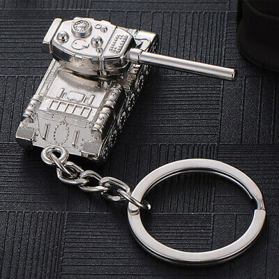 Personalitied Fashion 3D Cool Tank Alloy Keychain Key Ring Keyfob Mens Gift