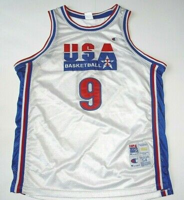 VTG CHAMPION 1992 USA DREAM TEAM Michael Jordan #9 OLYMPICS Basketball JERSEY 54
