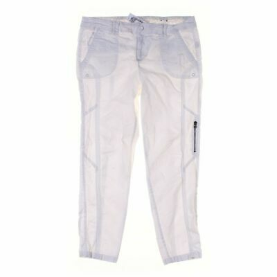Blue Earth Women's Casual Pants size 12,  white,  cotton, spandex