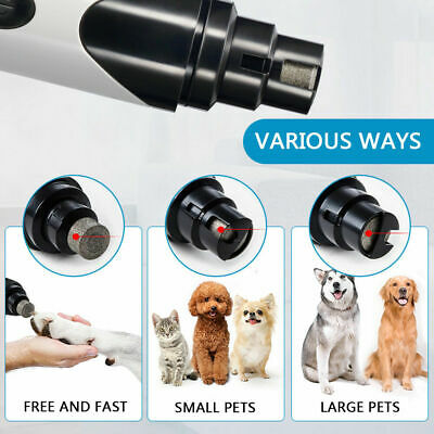 USB Electric Dog Pet Nail Grinder Paw Grooming Trimmer Tool File Cat Clippe Z8X6