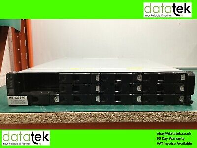 DELL XYRATEX COMPELLENT HB-1235 2U STORAGE , 2x HB-SBB2-E601, 10x 600GB HDD