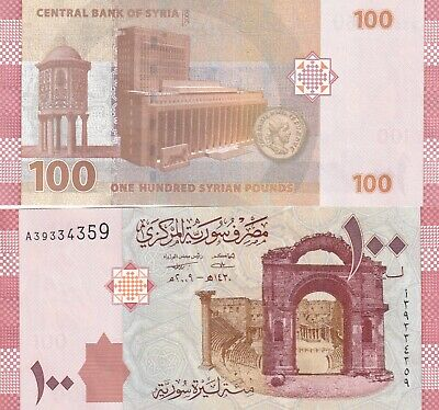 Syria,2009,100 Syrian Pounds .Uncirculated.(1)