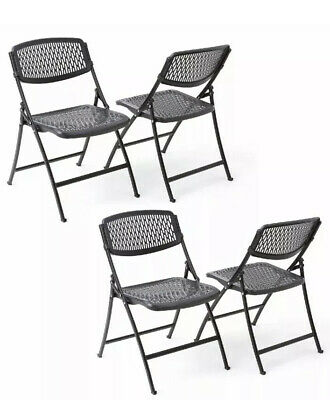 Mity Lite Flex One Folding Chair black -Office Dining Indoor Outdoor - 4 Pack