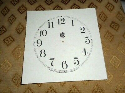 Waterbury Shelf / Mantle Paper (Card) Clock Dial -123mm M/T - PARCHMENT Effect
