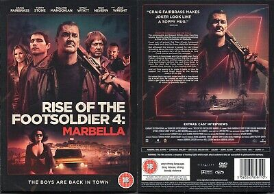Rise of Footsoldier 4 Marbella DVD New Slipcover Sealed Free Post Recorded