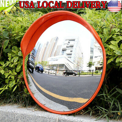 "24"" Traffic Convex Mirror Safety Wide Angle Driveway Road Outdoor Security PC US"