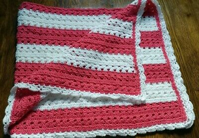 Handmade Crocheted Baby Blanket/Car seat/ stroller throw AVAILABLE FOR SHIPPING