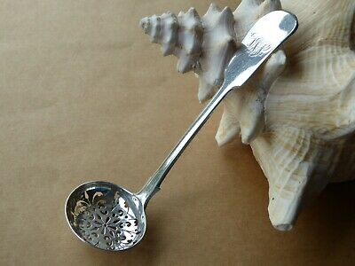 Antique Victorian Solid Silver Sugar Sifter Spoon Fiddle Pattern Lon 1883 24g