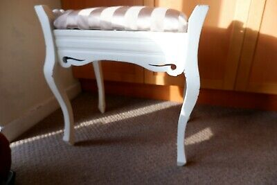 Shabby Chic Dressing Table Stool White Project