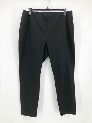Lauren Ralph Lauren Womens Straight Leg Pants Black Side Zipper Stretch Plus 18W