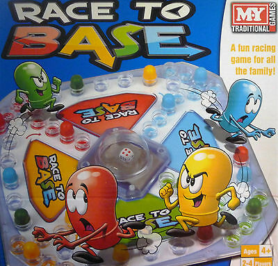 Race to Base Pop a Dice (Frustration) Board Game. Great Family Game