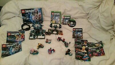Lego dimensions xbox one starter pack + story pk + team pk + level pk + 4 fun pk